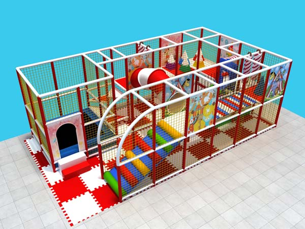 Kids indoor playground made in soft material designed for kids to play indoor