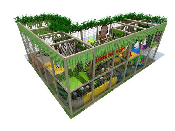Soft play equipment for preschool kids suitable for restaurant or franchise