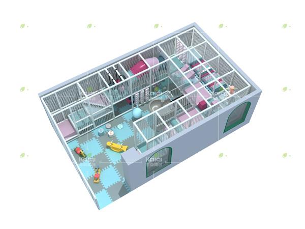 مجموعات معدات ملعب داخلي للأطفال المحترفين مصنوعة من مواد ناعمة
