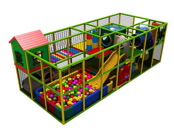 Commercial indoor playground made of soft material for little kids to play