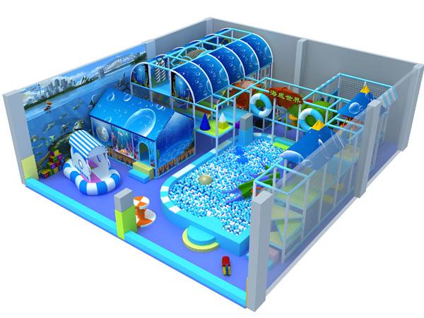 معدات الملاعب الداخلية ذات الطابع البحري مصنوعة من الإسفنج الناعم للأطفال للعب بأمان
