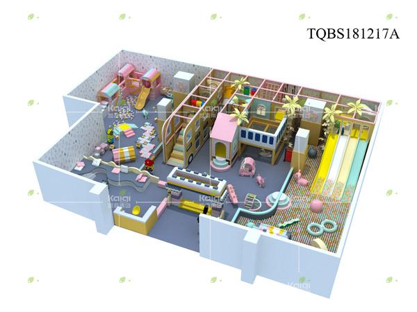معدات ملعب داخلي للأطفال المهنية مجموعات TQBS181217A