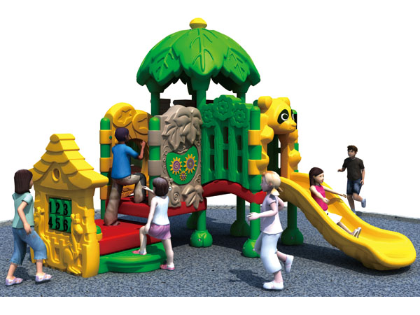 Attractive kids plastic playground equipment for children play in parks or community area
