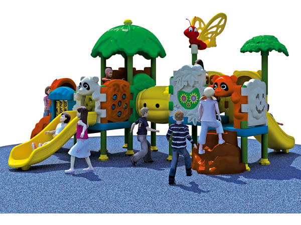 Outdoor multi plastic playground equipment for students play in parks