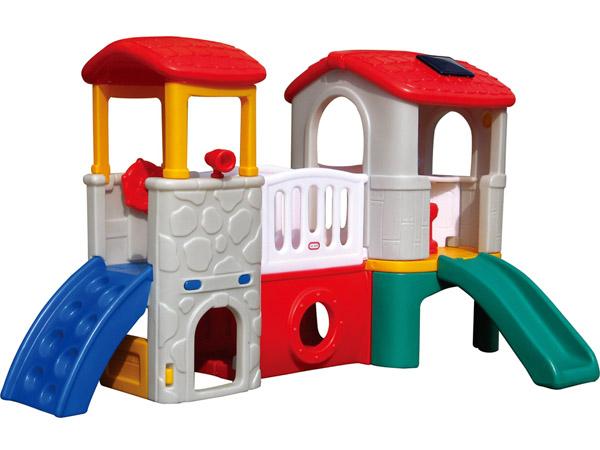 Goedkoop en maklike installering van plastiekglybaan vir klein kinders, geskik vir binne en buite