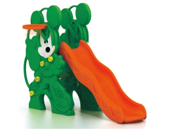 Children classic little bear shape slide with ball shooting play set for home garden