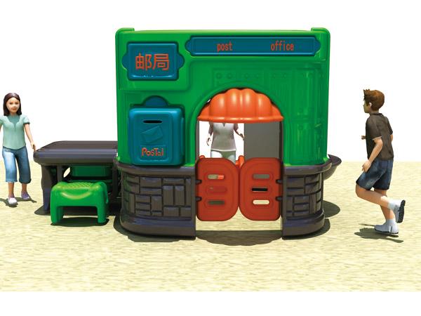 إخفاء منزل بلاستيكي في مكتب البريد والبحث عن أفضل الأسعار للحصول على هدية جيدة للأطفال في مرحلة ما قبل المدرسة