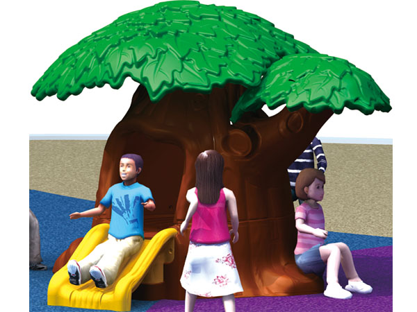 Small garden tree play house made of plastic for little kids to share with best friends