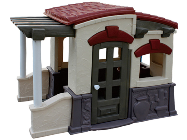 Spanish Style plastic cabin playhouse best choice for kindergarten