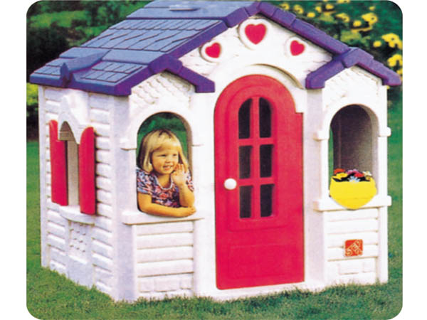 Kids' cute attractive chocolate playhouse made of environmental plastic suitable for early education center