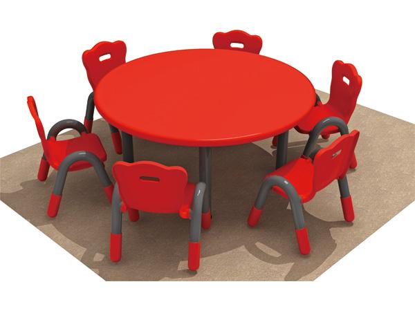 مجموعة طاولة وكرسي أطفال بلاستيكية مستديرة الشكل أفضل خيار لغرفة اللعب