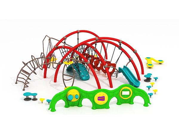 Kinders se duursame gekombineerde buiteklimstelsel buite speelterrein -toerusting KQ31002A