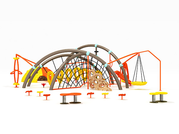 Durable combined commercial outdoor climbing outdoor playground equipment for kids KQ31004B