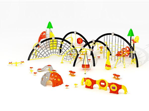 Goedkoop en duursame kommersiële buitelugklimstelsel buite speelterrein vir kinders