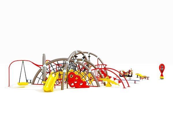 Hildren se duursame gekombineerde kommersiële buitenshuise fisiese opleiding speelterrein vir kinders KQ31007A