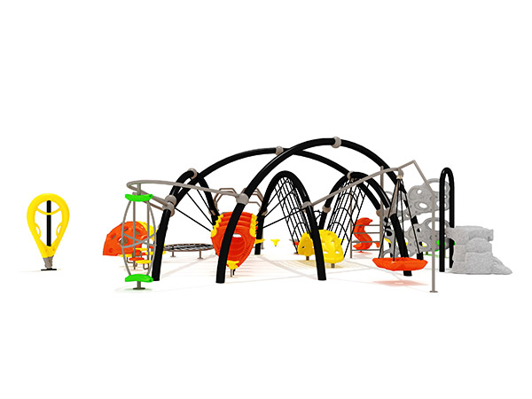 Gewilde gekombineerde kommersiële klim buite -speelterrein vir fisiese opleiding