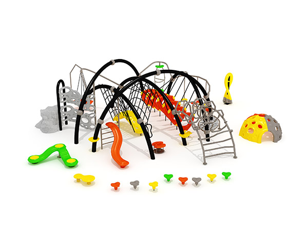 Popular combined commercial climbing outdoor Physical Training playground equipment