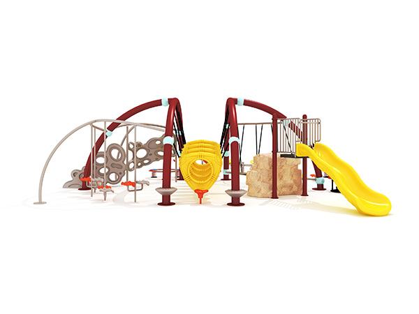 Kommersiële buiteklimtourame buite speelterrein vir kinders KQ31020B