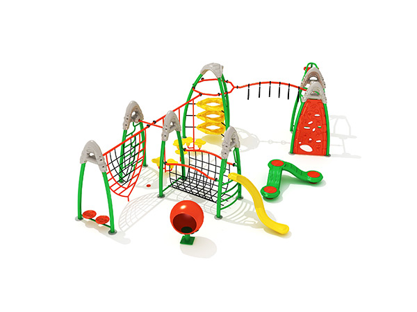 Children's combined commercial steel and rope climbing frames outdoor playground equipment KQ31030A