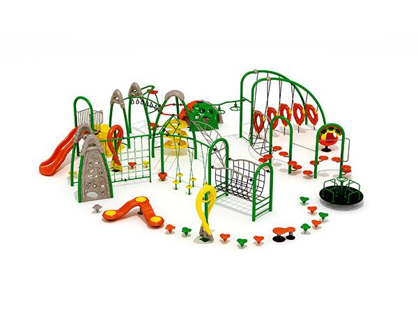 يجمع الأطفال بين إطارات التسلق التجارية المصنوعة من الصلب والحبال معدات اللعب في الهواء الطلق KQ31034A
