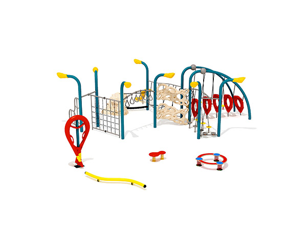 Kids combined commercial steel and rope climbing structure outdoor playground equipment KQ31040A