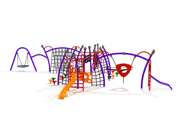 Kids combined commercial steel and rope climbing structure outdoor playground equipment KQ31042A