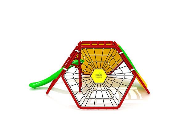 نظام لعب الأطفال في الهواء الطلق للتسلق التجاري في الهواء الطلق الشهير KQ31061B