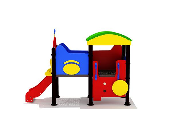 Kinders se gewilde klein speelgoed vir buitenshuise speelgrondstruktuur buitenshuise speelstelsel KQ31081C