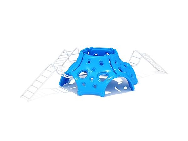 Kinders se gewilde kommersiële buitenshuise speelgrondstruktuur buitenshuise speelstelsel KQ31085A