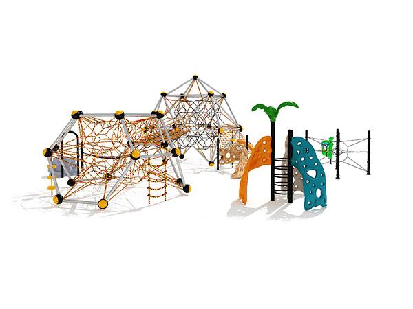 Warm verkope vir kinders, groot kommersiële buitelugspeelplek, buite klimstelsel KQ31088A