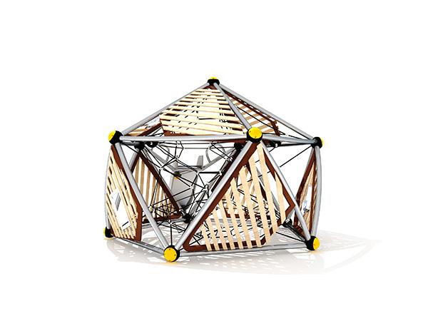 Gewilde kinders se kommersiële buitenshuise speelstruktuur buiteklimstelsel KQ31089B