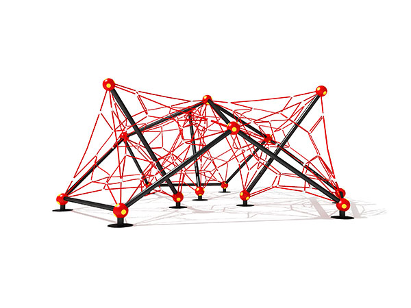 Popular small size children's commercial outdoor playground equipment rope climbing system KQ31092B