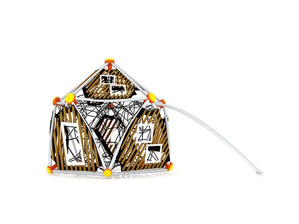 Gewilde kinders se buitenshuise speelterrein vir buitenshuise klimstelsel KQ31094A