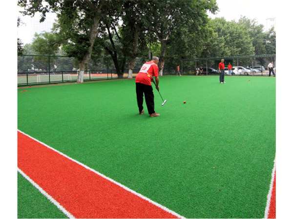 Synthetic turf for entertainment leisure area