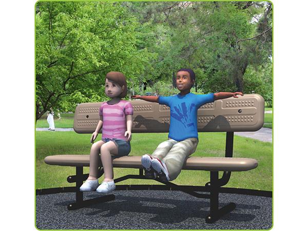 مقعد حديقة في الهواء الطلق موقع الراحة
