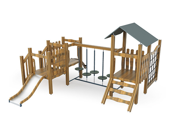 Outdoor playground with slide and climbers for kids to play good for park