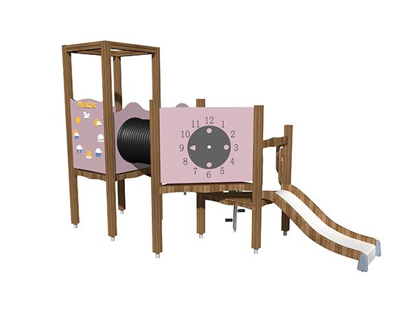 معدات ملاعب صغيرة الحجم مناسبة للعب الأطفال في الفناء الخلفي