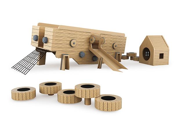 Speelgoed vir kleuterskool- of dagsorgkinders om te speel en te leer