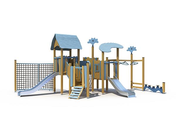 Kommersiële speelterrein met klimmers vir kinders om buite JMJ-H1-C029 te speel