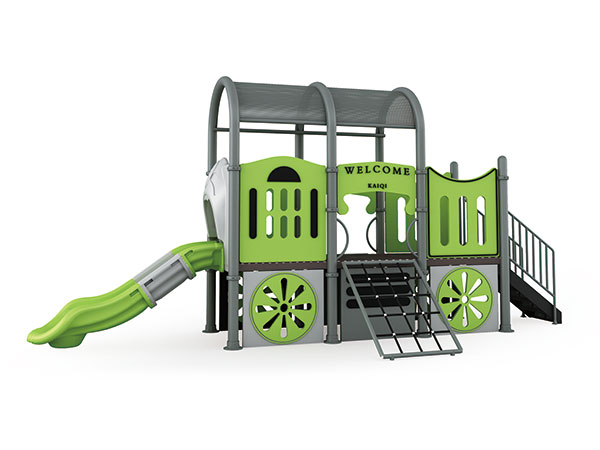 Kinders se speelterrein in die trein is geskik vir die speelterrein in die park en op die kleuterskool
