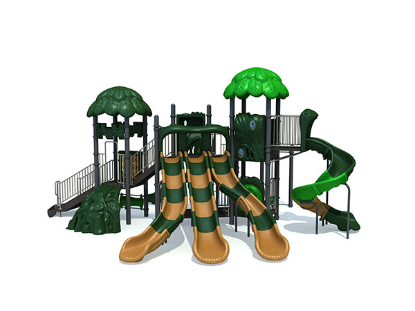 Playground tree house with exciting slides for children to play with their friends