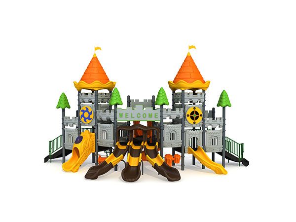 Commercial playground equipment in castle theme good for landscape playground