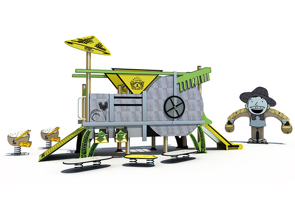Farm theme playground equipment good for resort and park