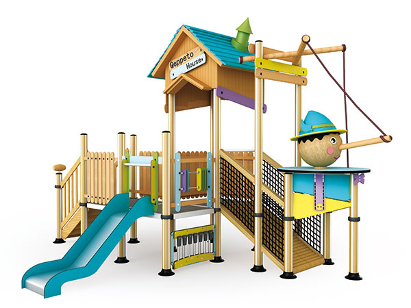Playground equipment with educational functions suitable for schools and kindergarten