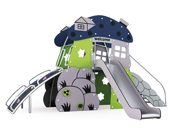 Mushroom play house suitable for outdoor playground for kids to play games
