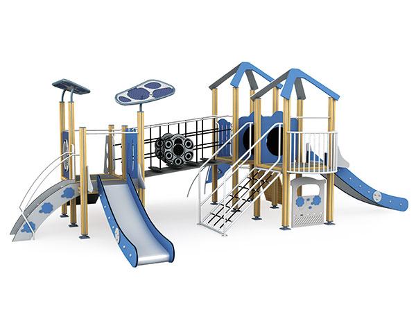 ملعب مصنوع من ألواح HPL مناسب لحديقة الفندق للعملاء الذين لديهم أطفال