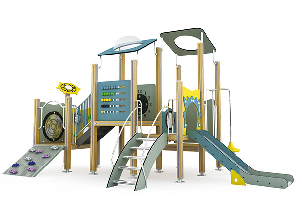 Outdoor playground equipment for kids to play games in community and residential playground