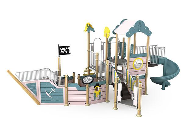 ملعب مع علم سفينة القراصنة للأطفال للعب دور بالخيال