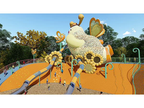 Kaiqi customized Reindeer playground equipment for Senlo Tourist Resort