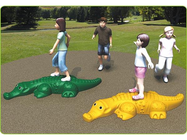 Food-grade LLDPE kids toy children's outdoor playground indoor playground Crocodile to climb and play